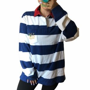 Polo by Ralph Lauren Blue and White Polo S…